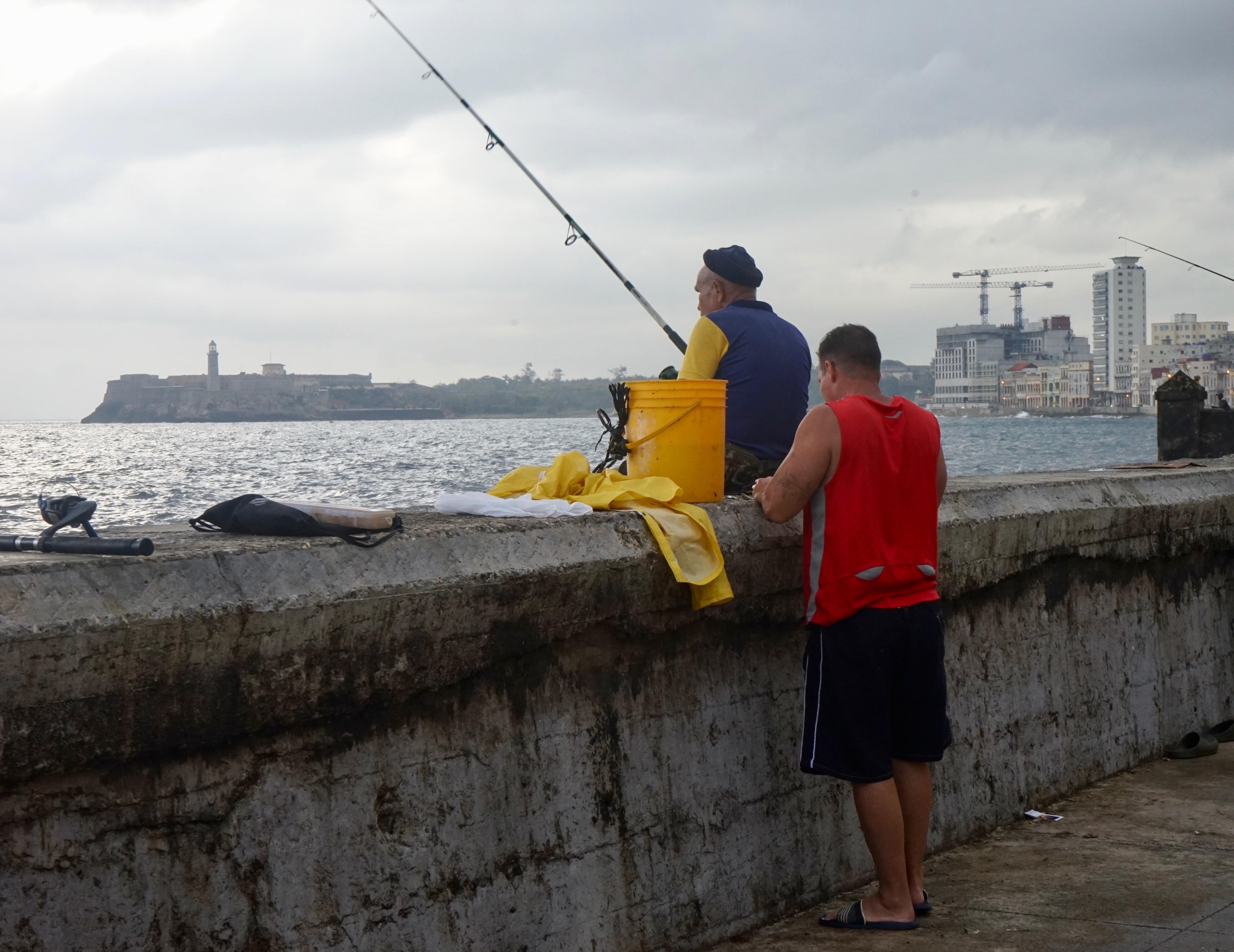 Pescador en El Malecón